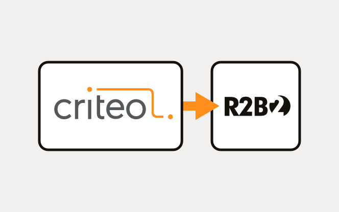 Retargeting company Criteo connects to the R2B2 network