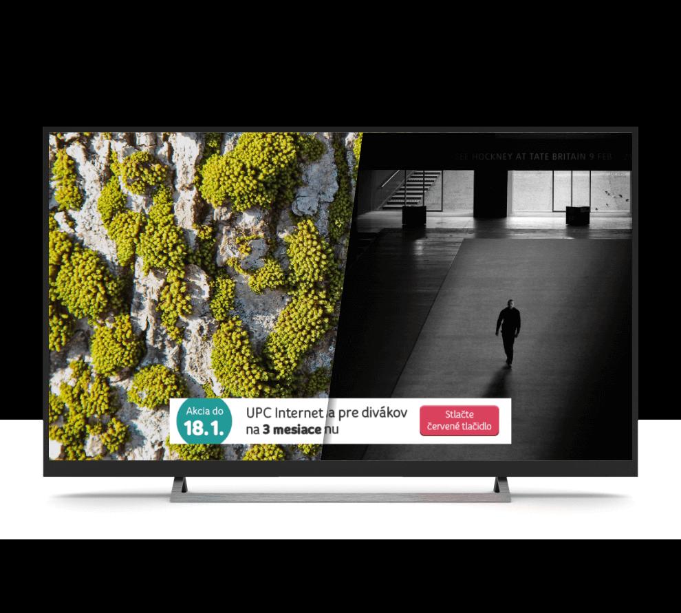 První programatická interaktivní kampaň vHbbTV na Slovensku pro UPC Broadband Slovakia