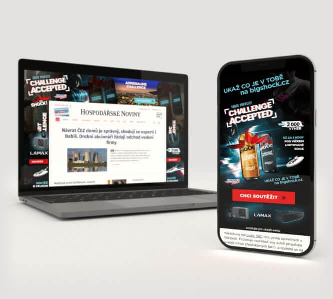 Použití Rich Media vletní online kampani pro Big Shock!